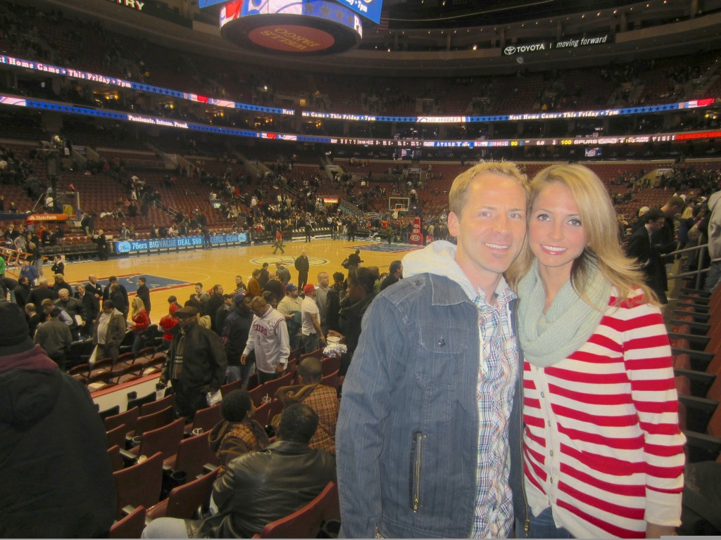 76ers Game me and Scott