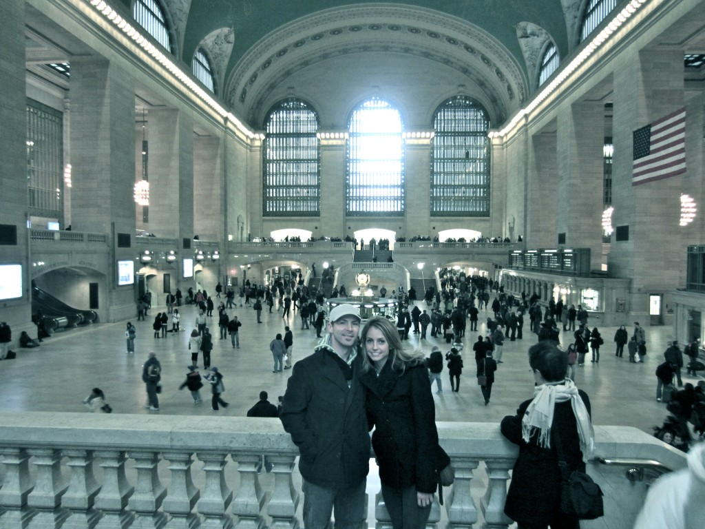 Scott and I in Grand Central Station
