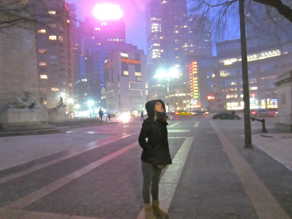 Me in Snow NYC