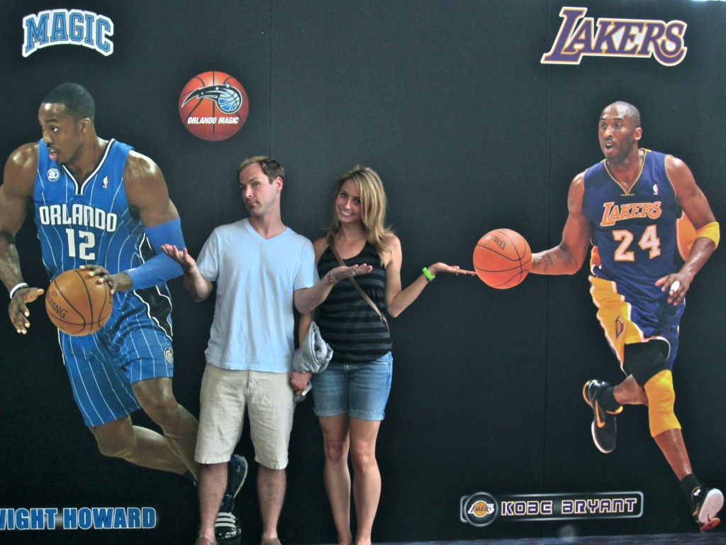 Scott and I with Dwight and Kobe