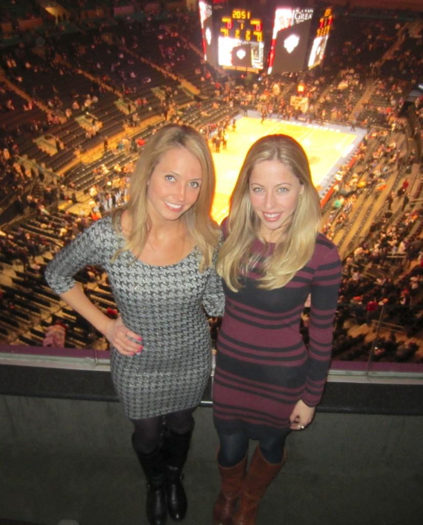 Knicks Game me and jess