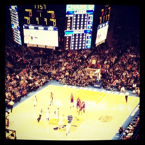 Knicks vs Lakers Game Instagram