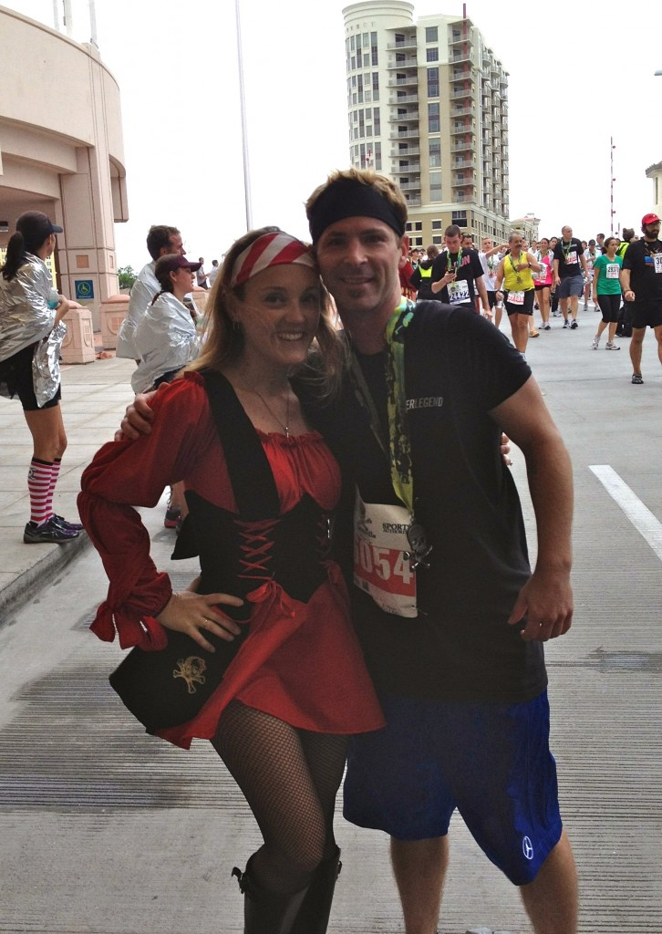 Scott with Pirate at Gasparilla