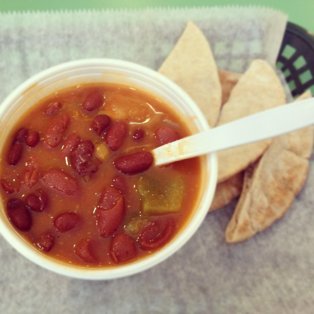Powerhouse Cafe vegetarian chili