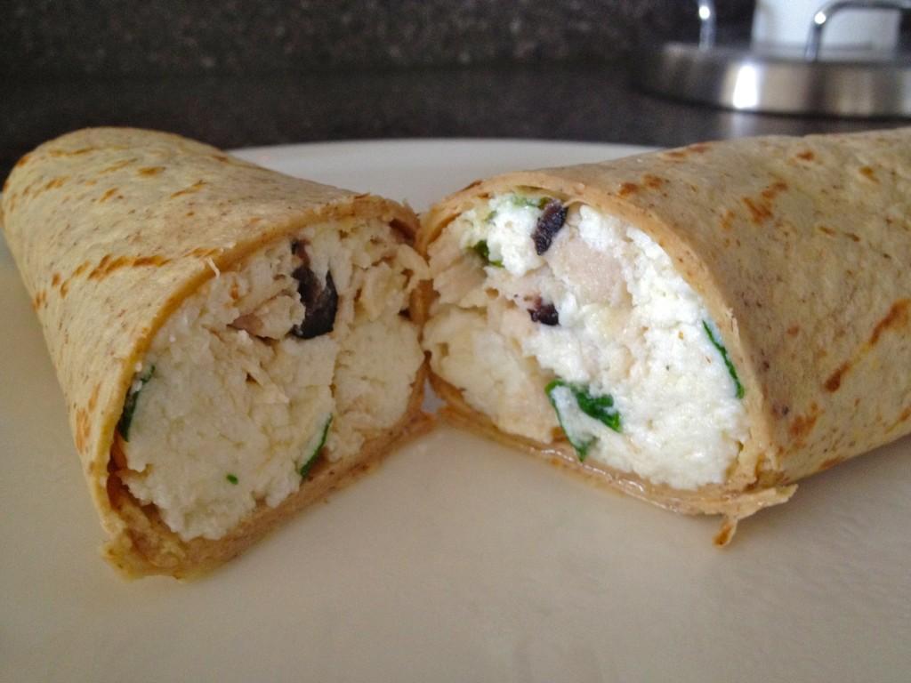 Egg white breakfast wrap
