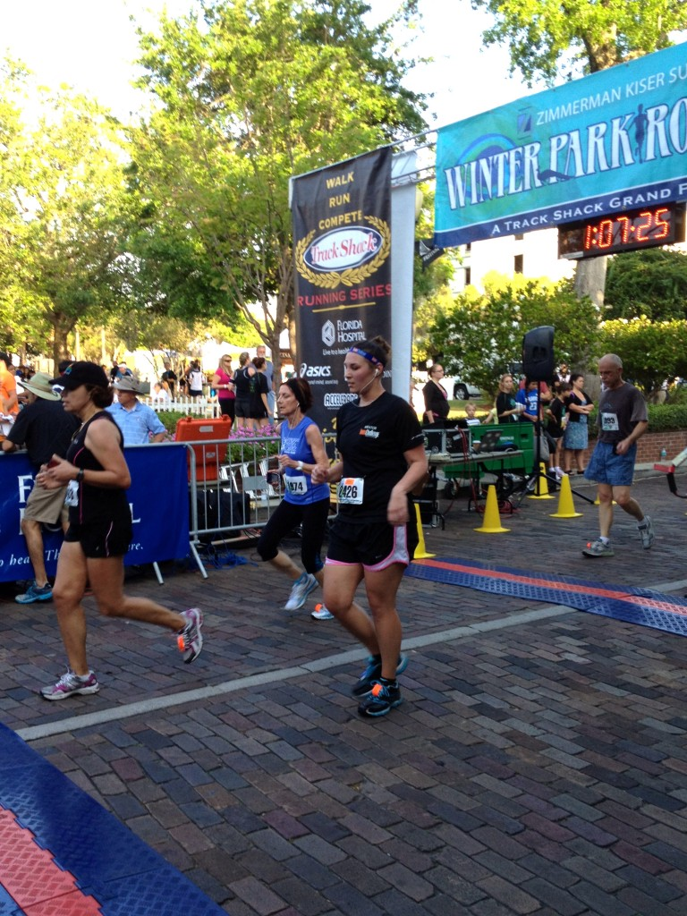 Mom finishing the 10K