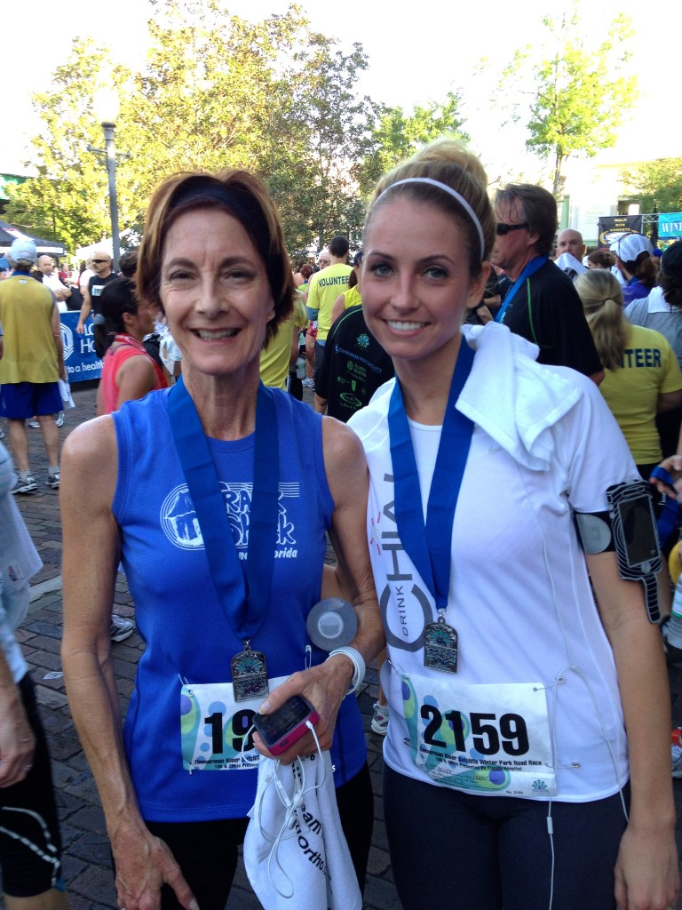 Mom and me after the 10K