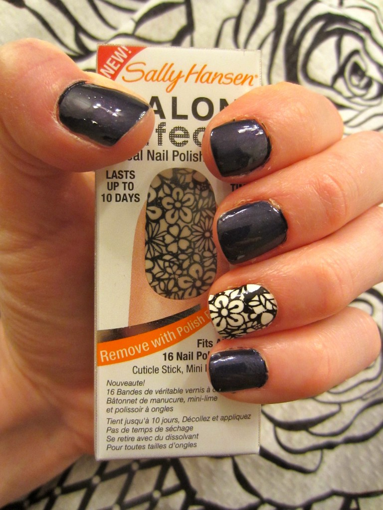 Nail Strips Cut it Out with OPI Play 'Til Midnight