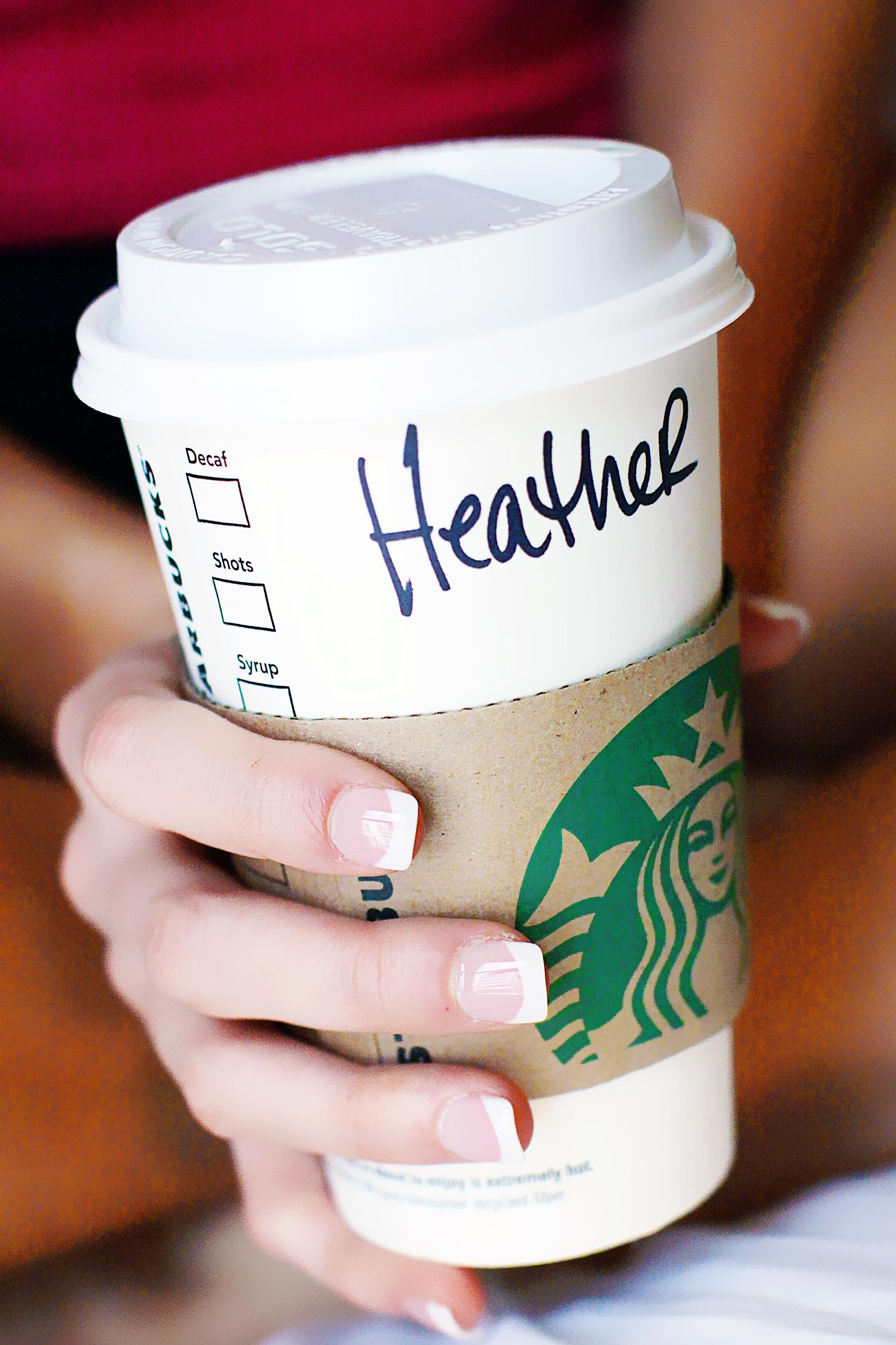 Starbucks on Wedding Day