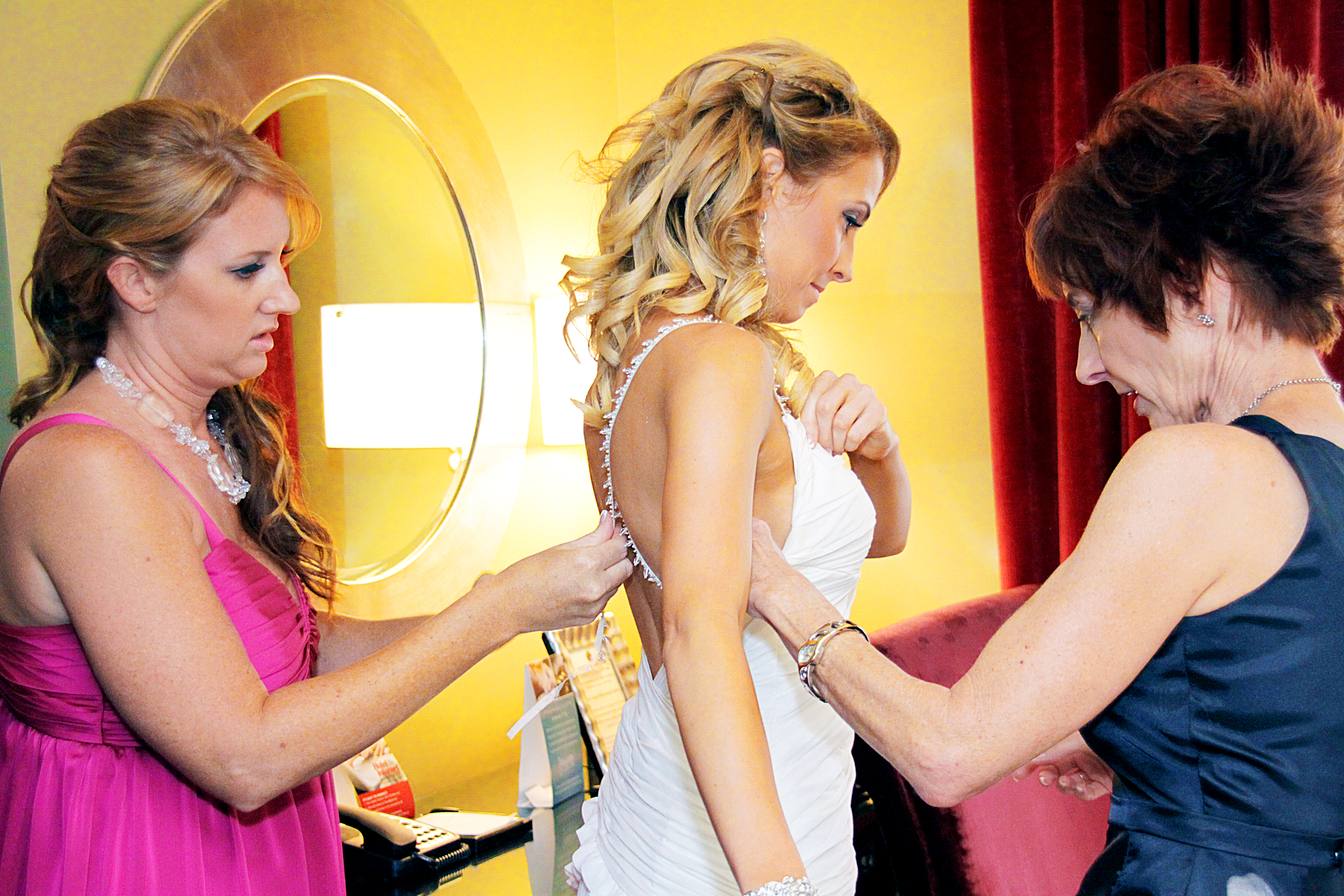 Getting ready with mom and Trish