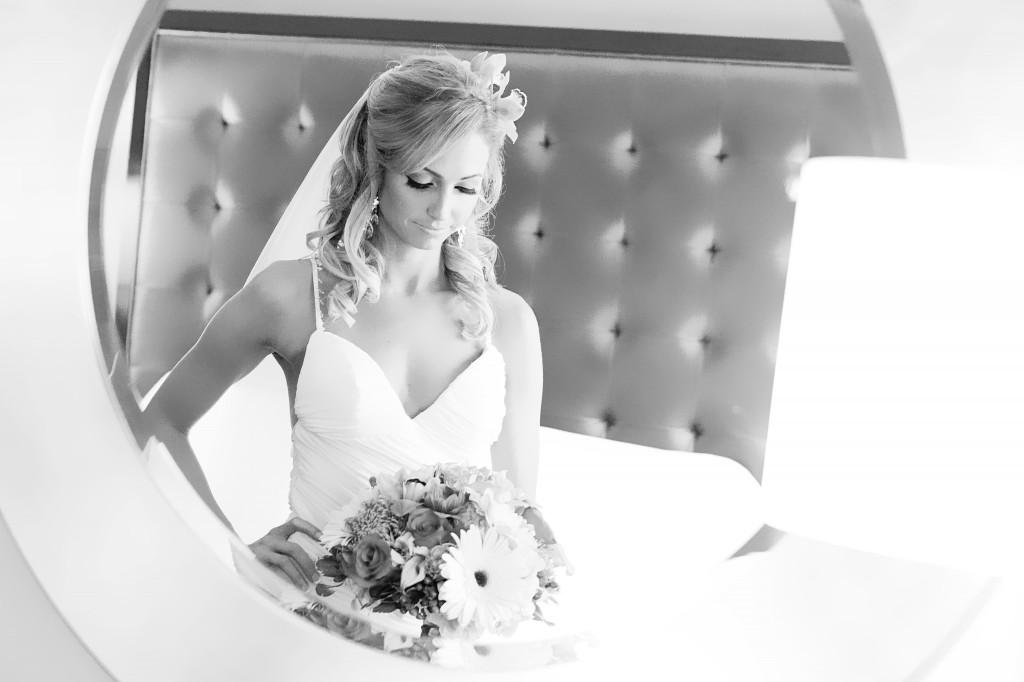 Wedding Day through mirror