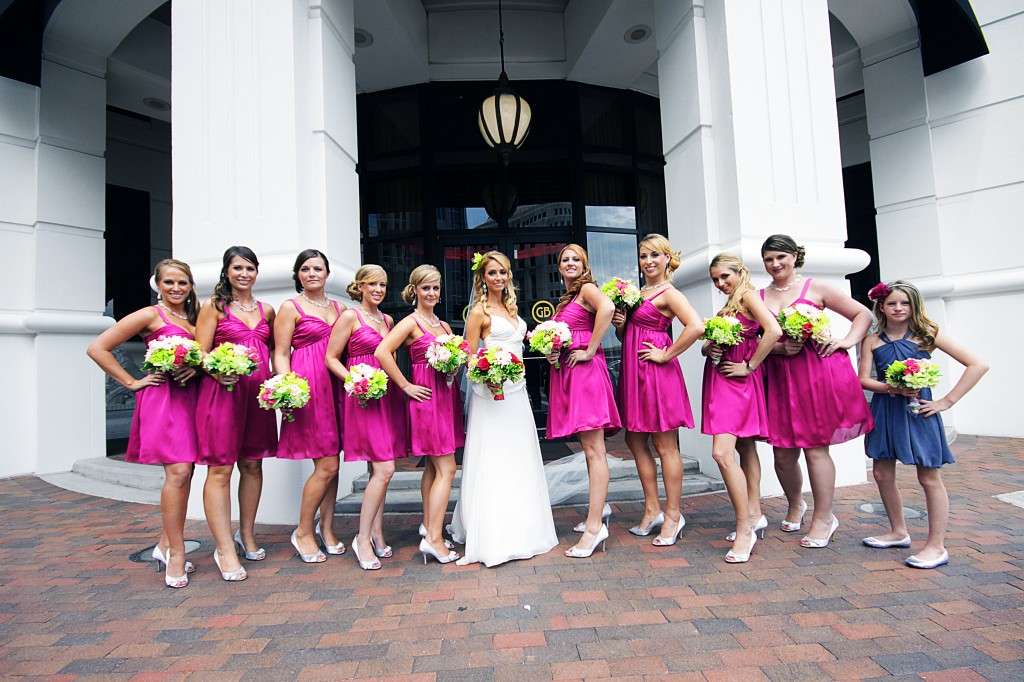 Bridesmaids outside Grand Bohemian