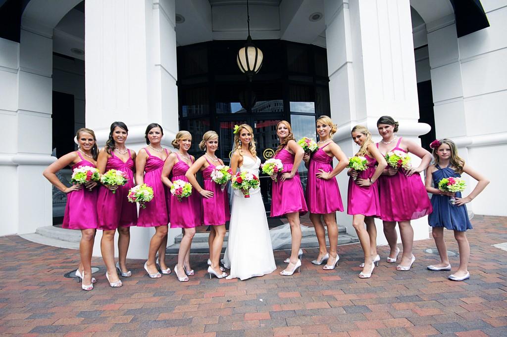 Bridesmaids outside Grand Bohemian
