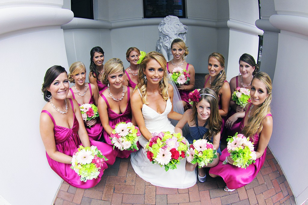 Hesington Bridal Party outside Grand Bohemian