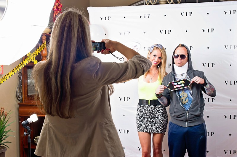 Jersey Shore Party us on VIP carpet