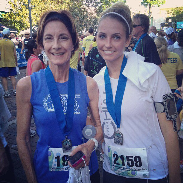 Me and Mom after Winter Park Road Race 10K