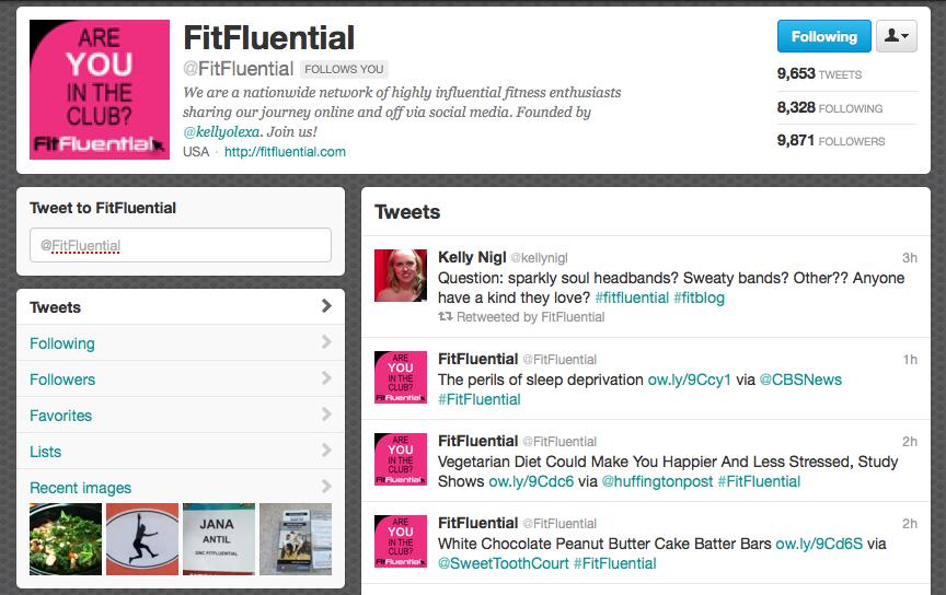 Twitter FitFluential