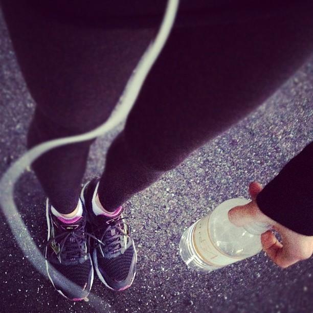Running in leggings