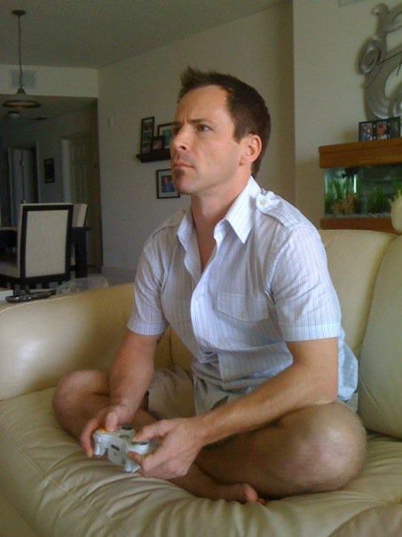 Scott playing video games