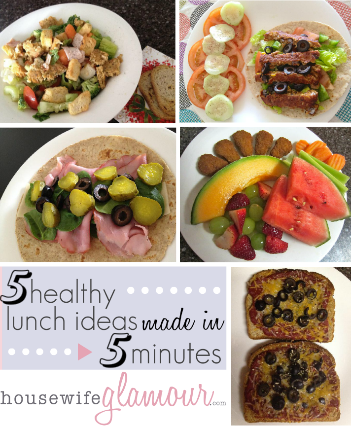 5 Healthy Lunch Ideas made in 5 Minutes