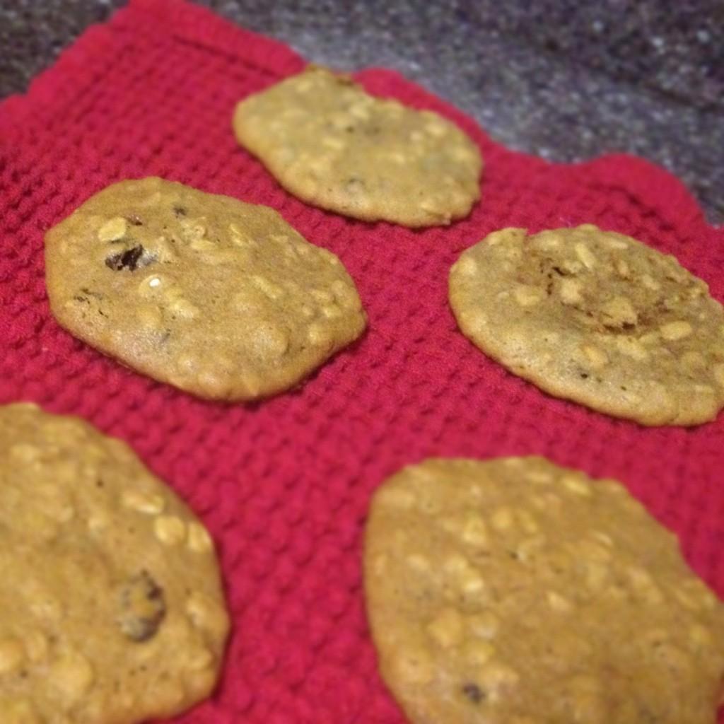 Sweet Potato Oatmeal Raisin Cookies