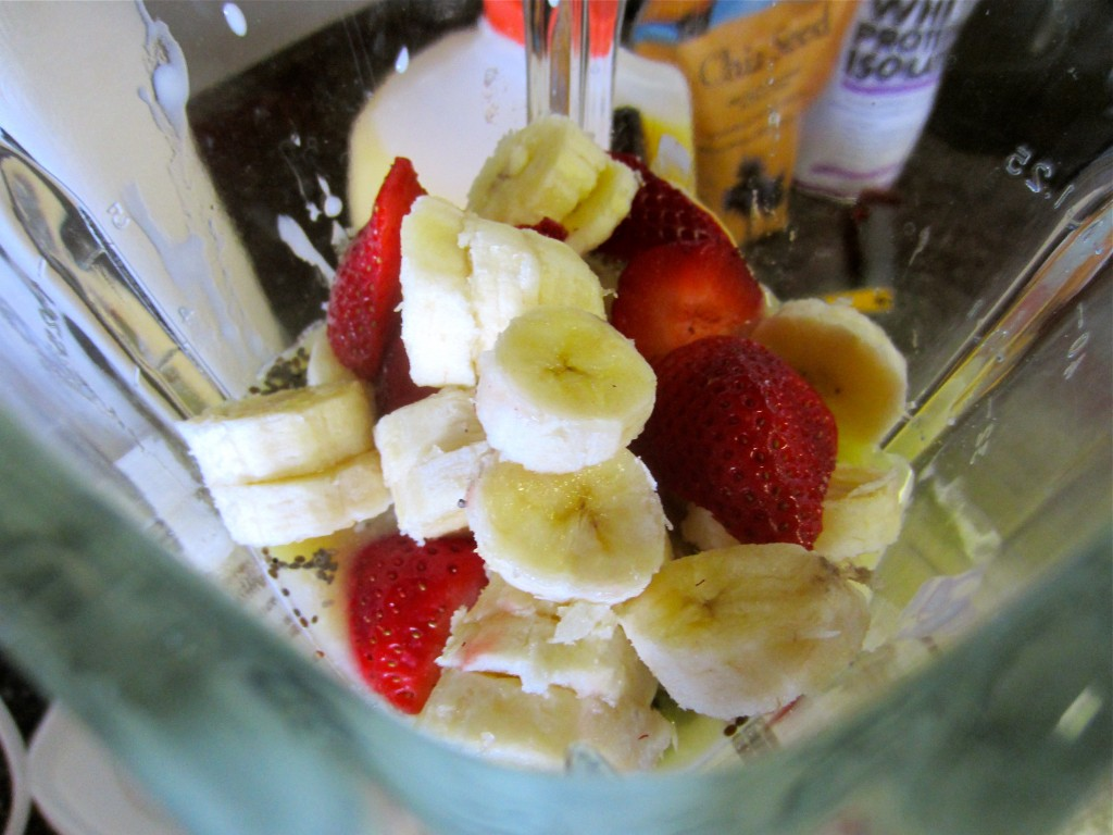 Smoothie ready to blend