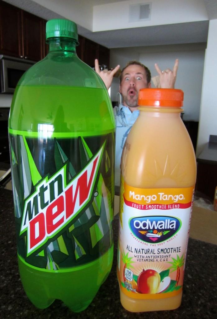 Mtn Dew and Odwalla Lent Treats