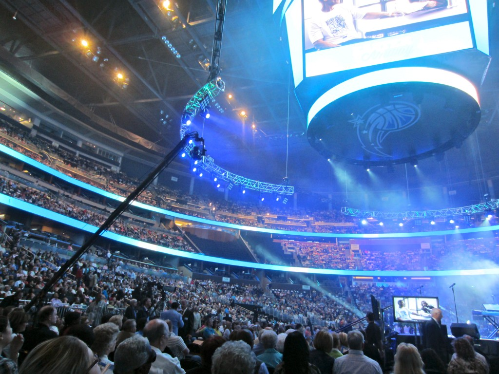 Easter Service at Amway Center crowd