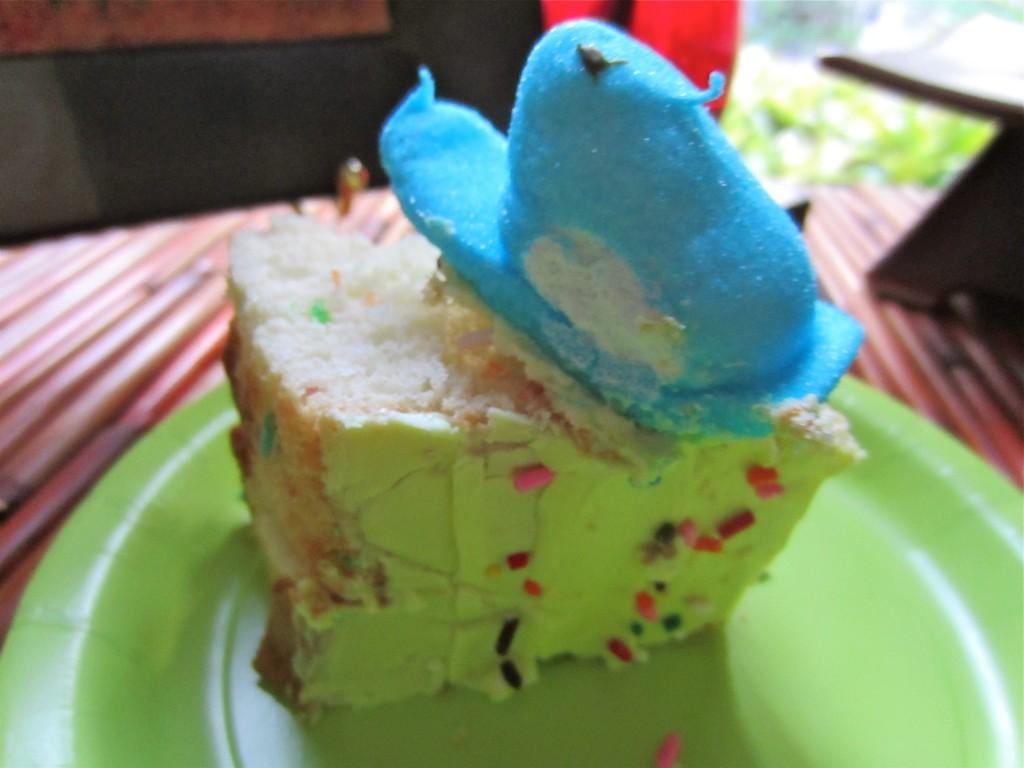 Easter Peep Cake Slice