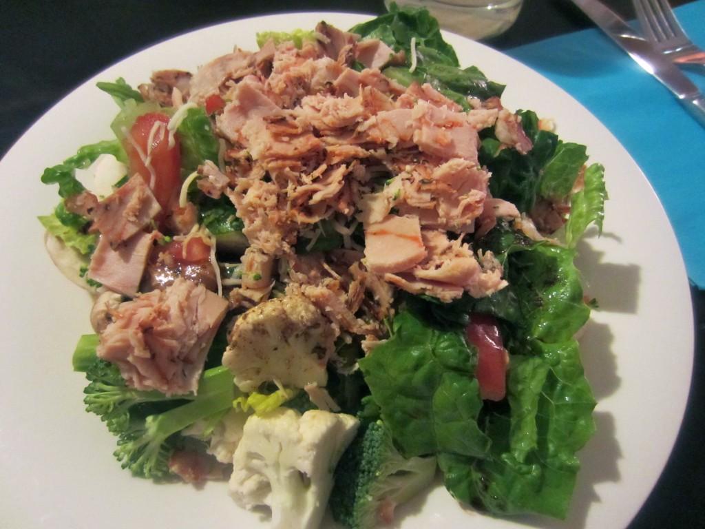 Garden Veggie and Turkey Salad