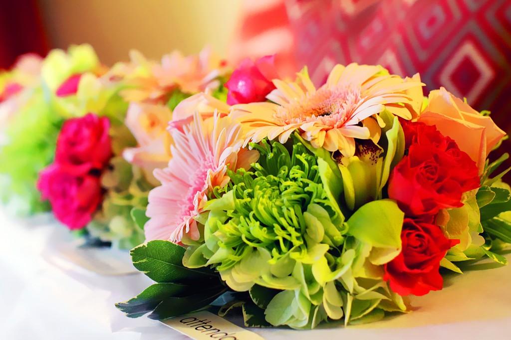 Flowers arriving in bridal suite