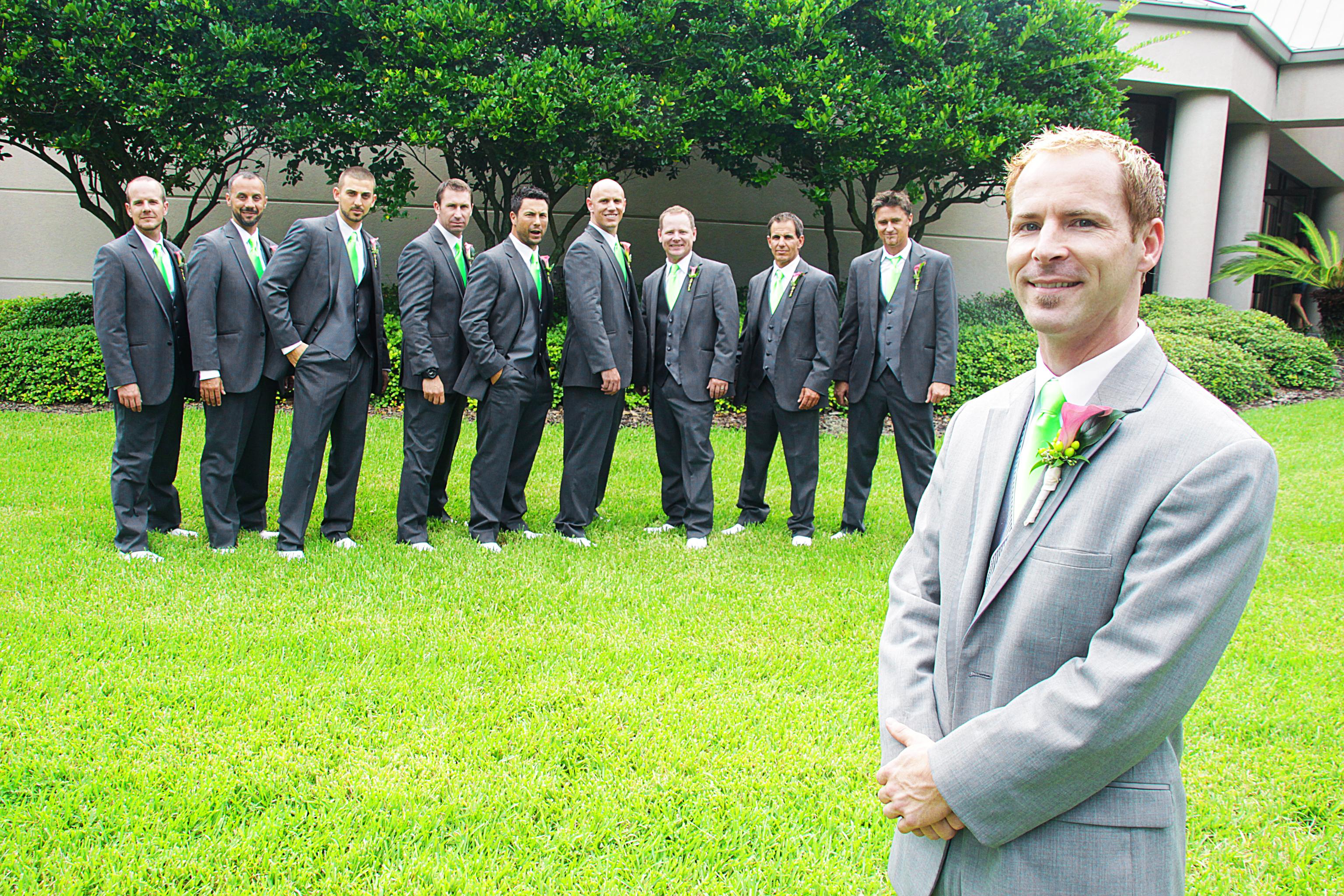 Groomsmen lineup