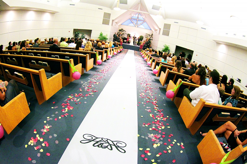 Wedding Ceremony from aisle