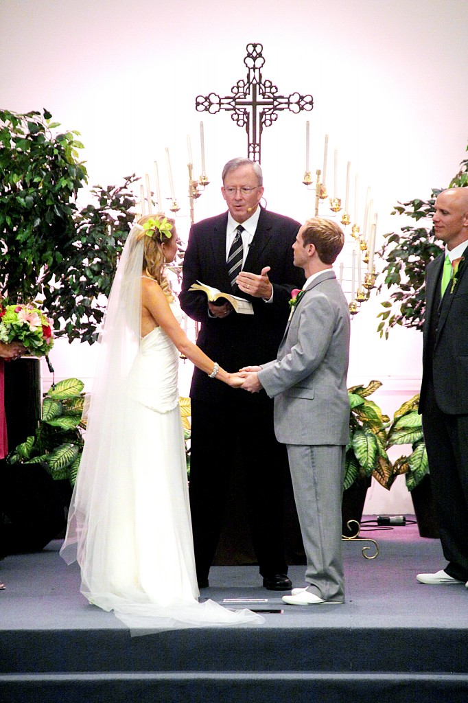 Pastor Dave marrying us