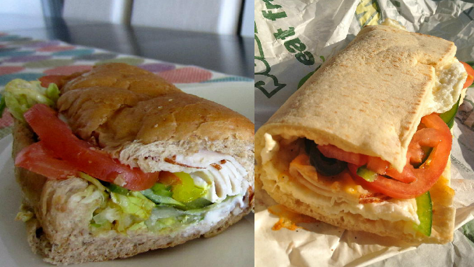 Subway Breakfast and Lunch