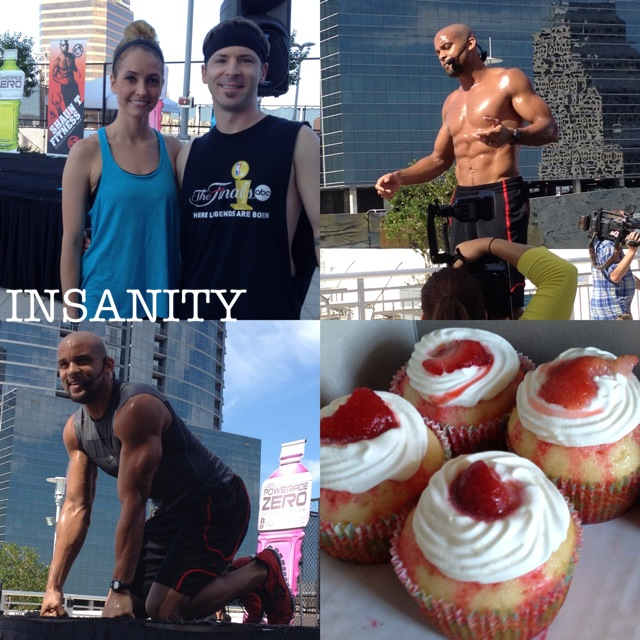 Insanity and Powerade Zero Cupcakes