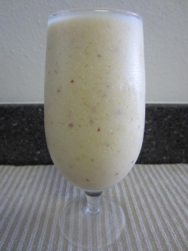 Banana Peach Protein Smoothie
