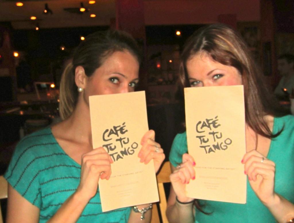 Cafe Tu Tu Tango Menu picture