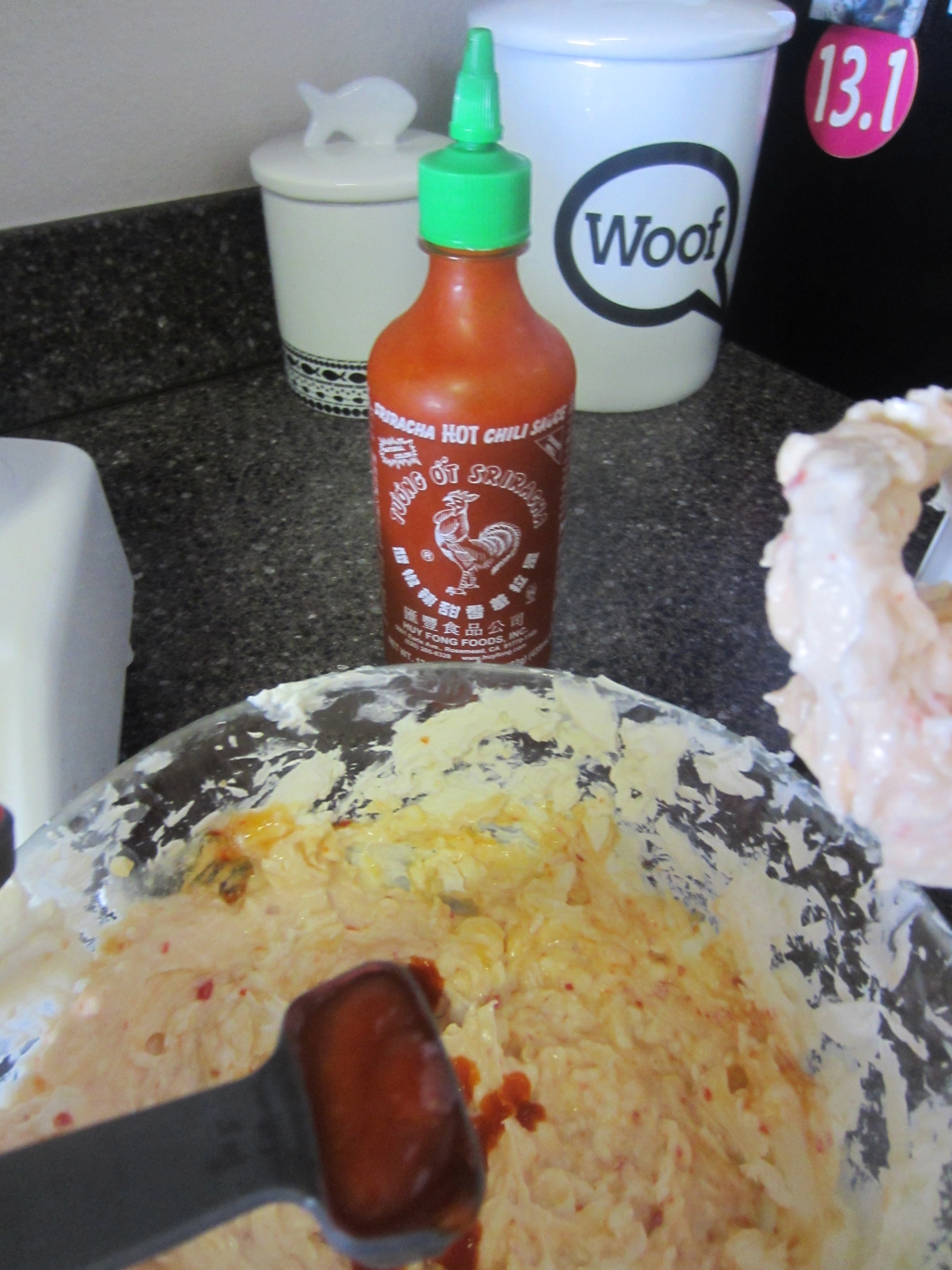 Adding Sriracha