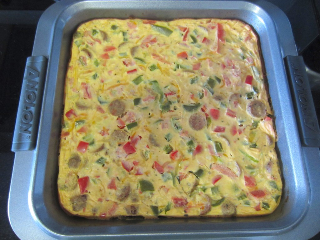Chicken Sausage and Veggie Frittata