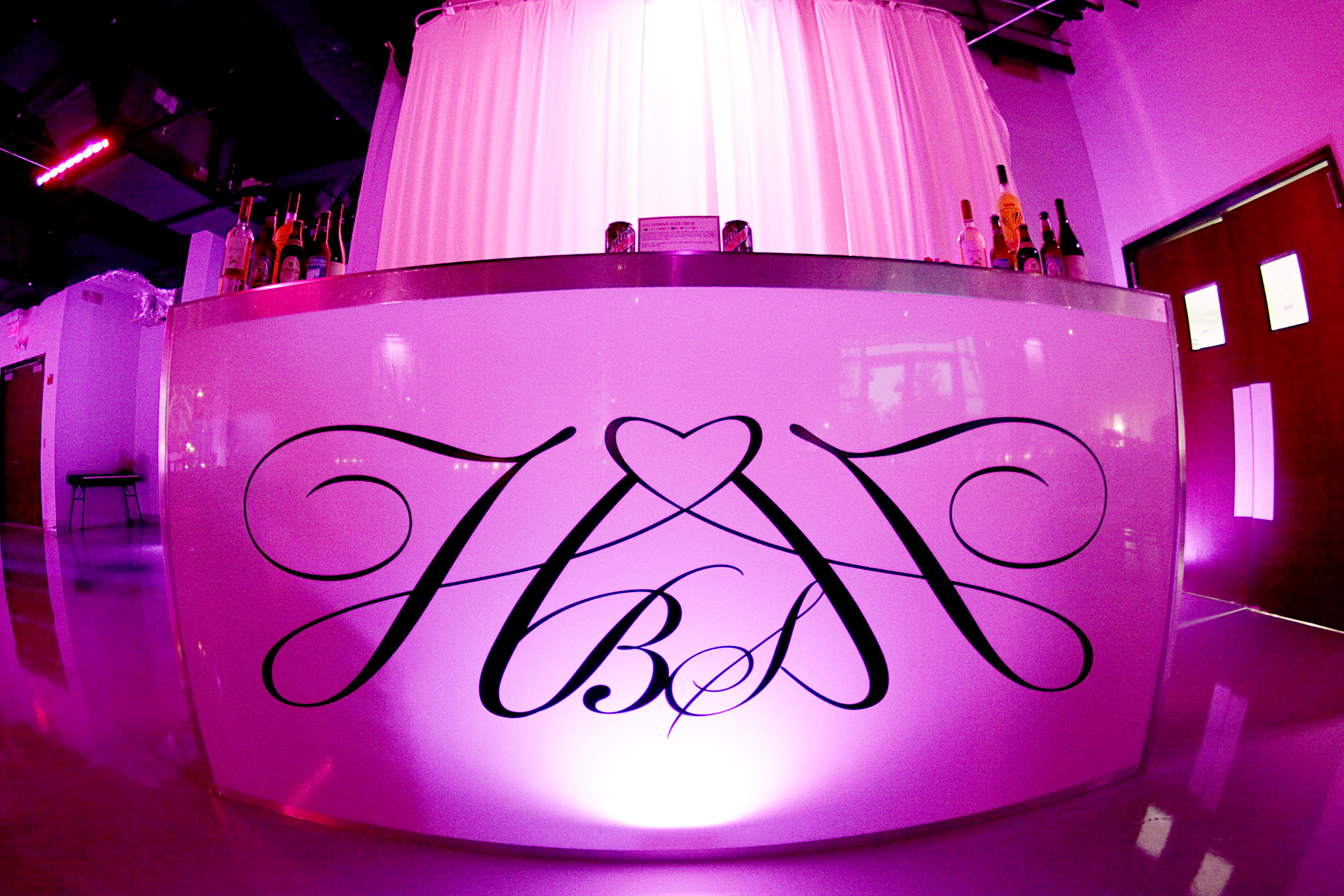 Custom Monogram on Wedding Bar