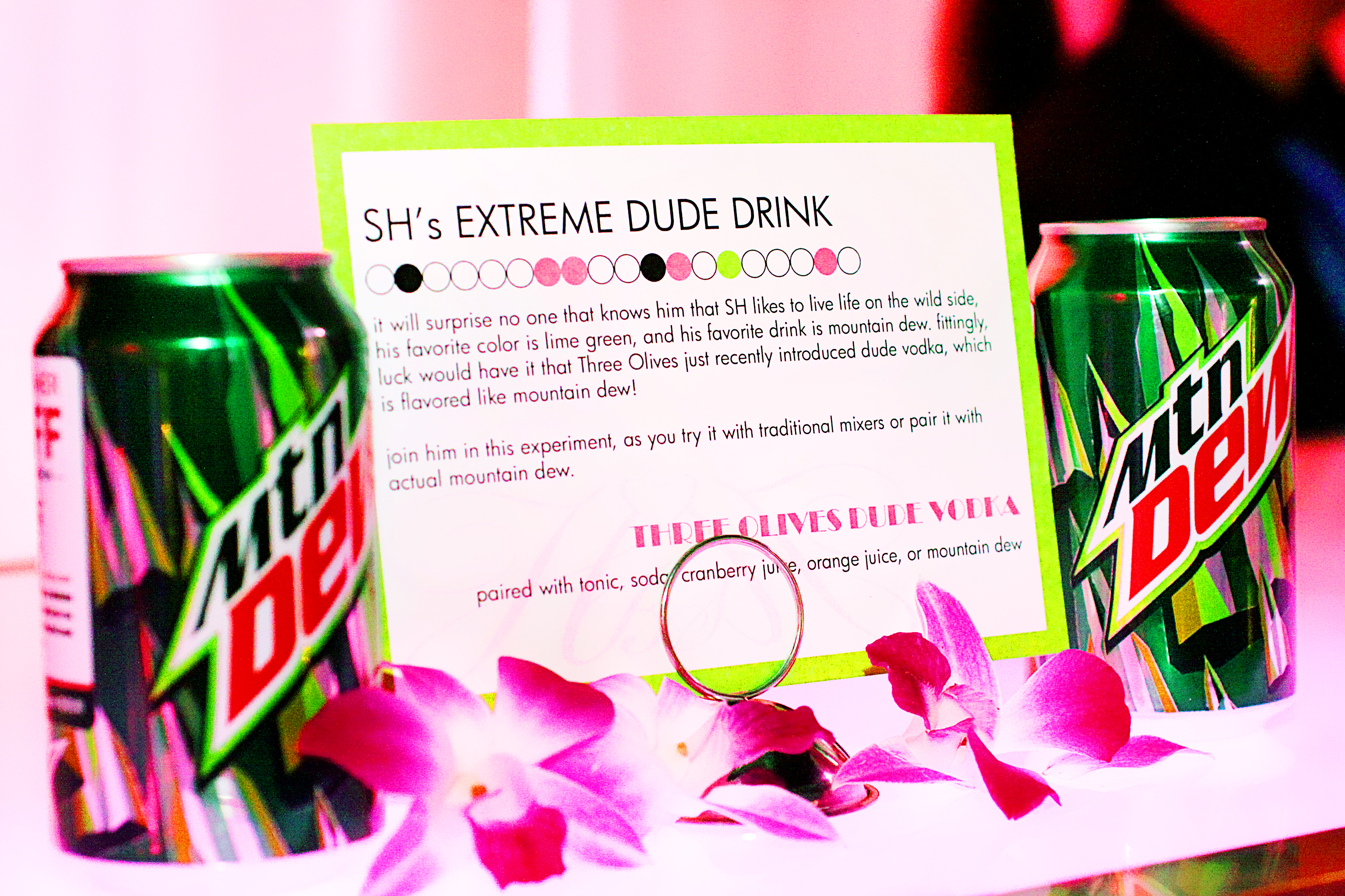 Wedding Specialty Drink Dew Vodka