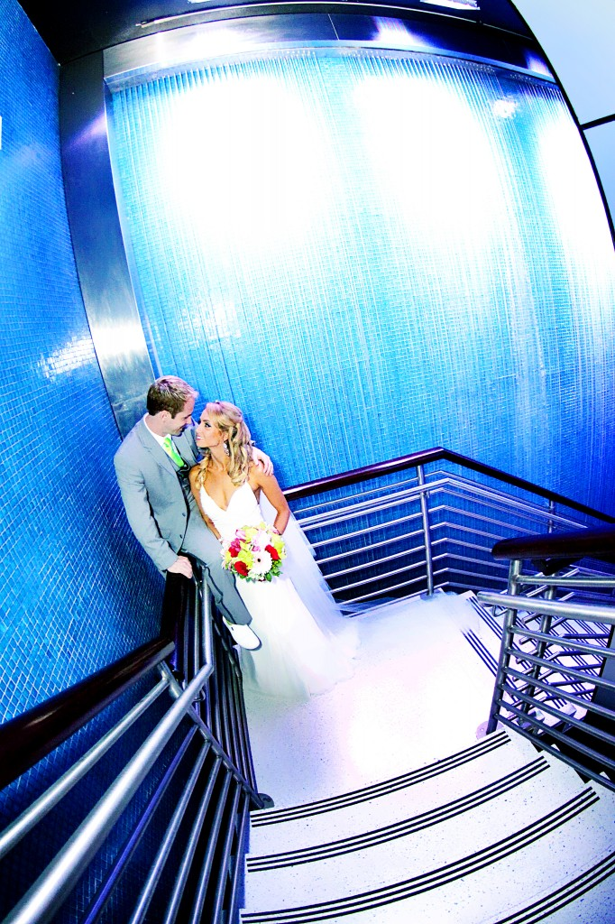Mosaic Waterfall Staircase at Heaven Events Center