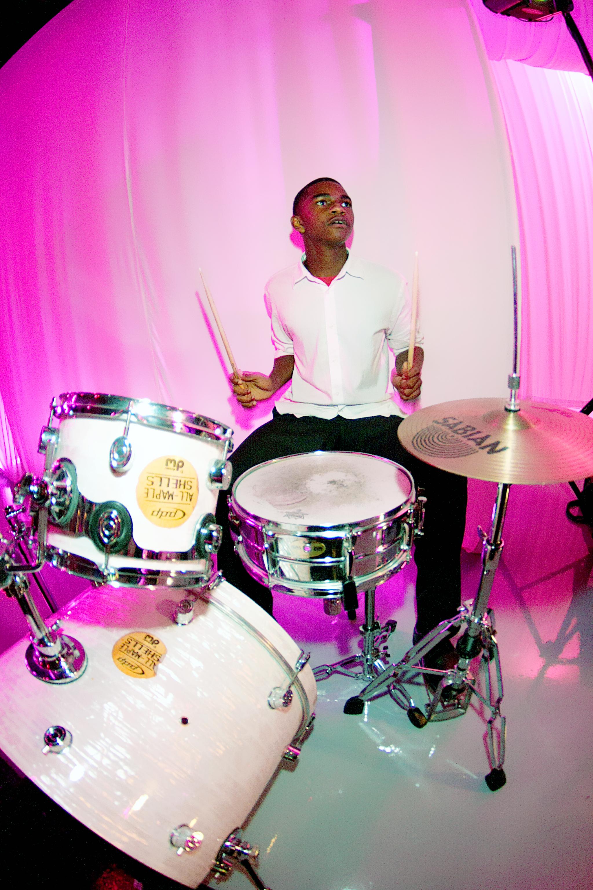Live Drummer at reception