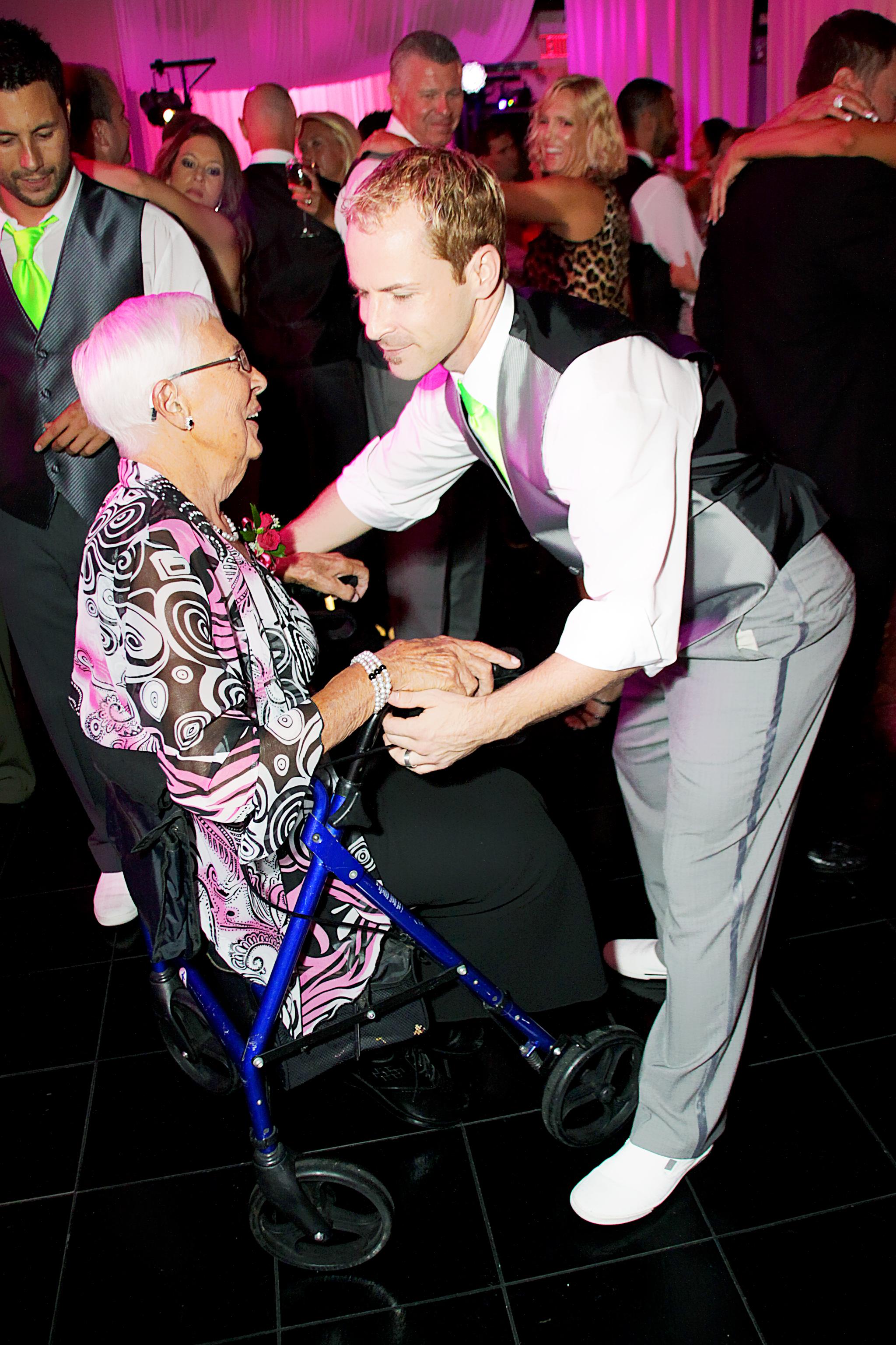 Scott and grandma dancing