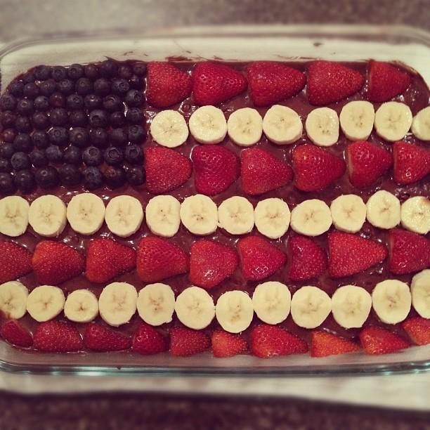 Memorial Day decorated Brownies