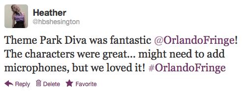Orlando Fringe Tweet