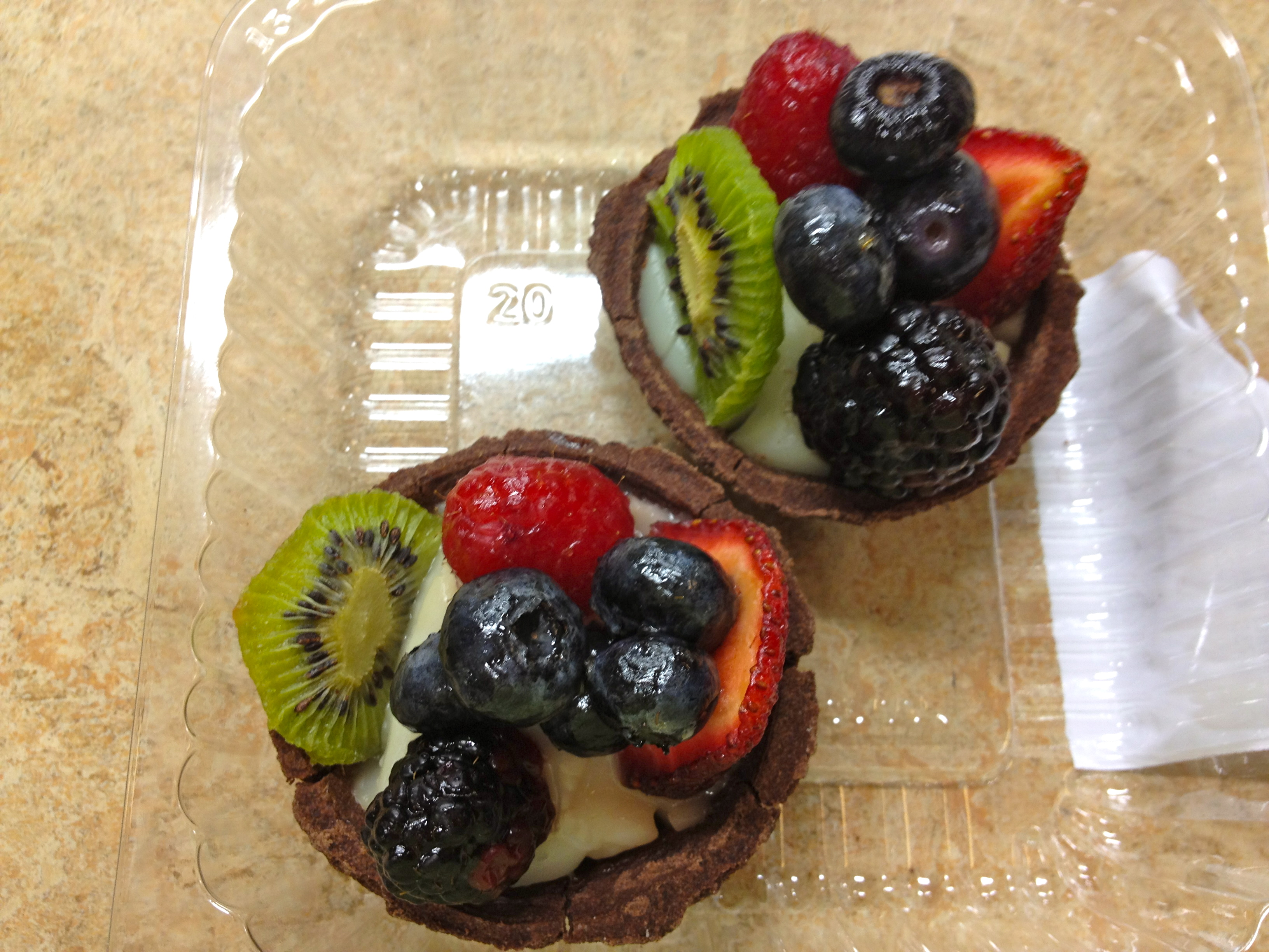 Whole Foods Fruit and Chcolate tart