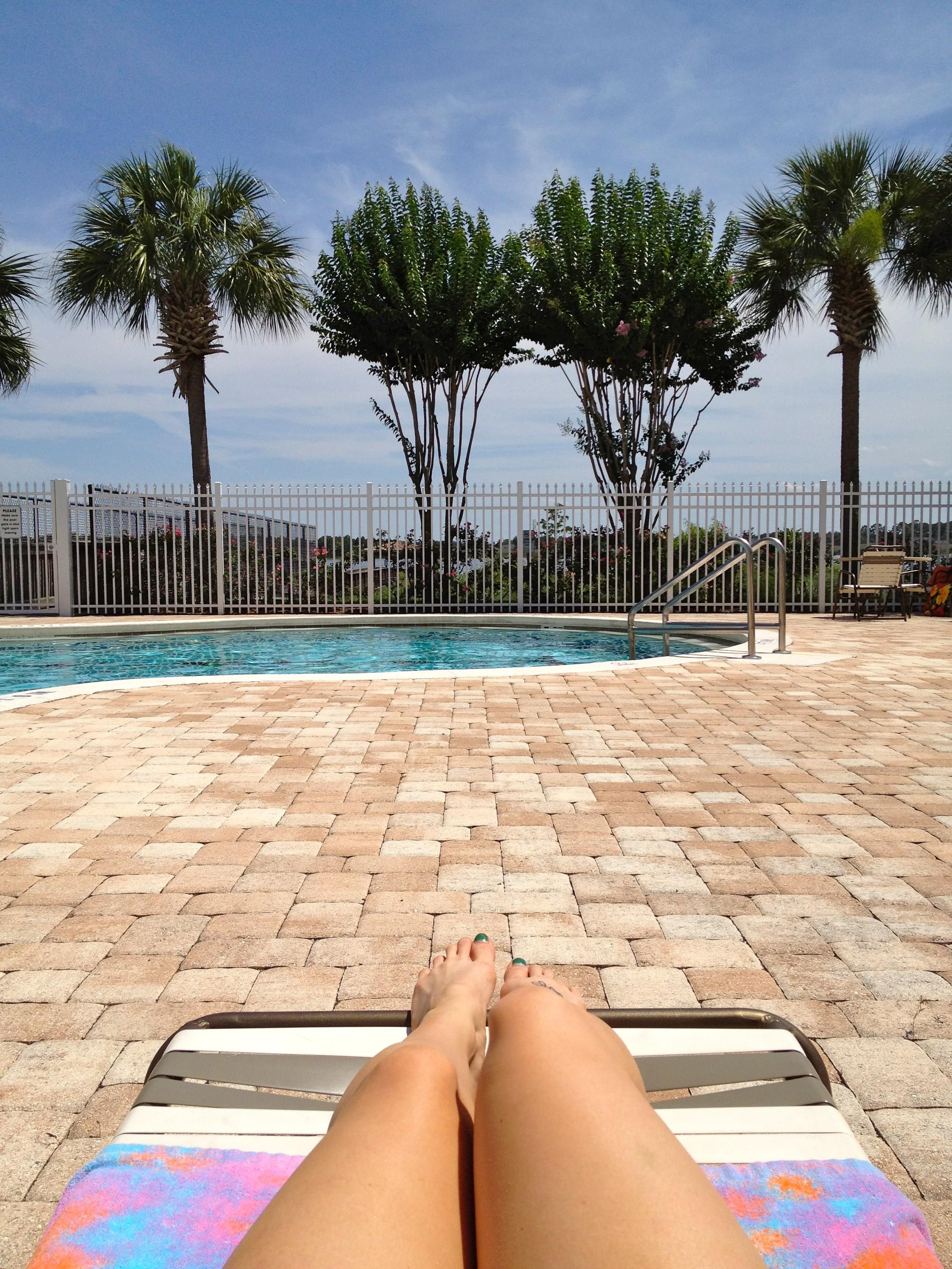 Sunday afternoon pool side
