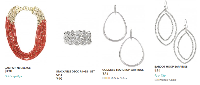 Stella and Dot Earrings and Stackable Deco Rings